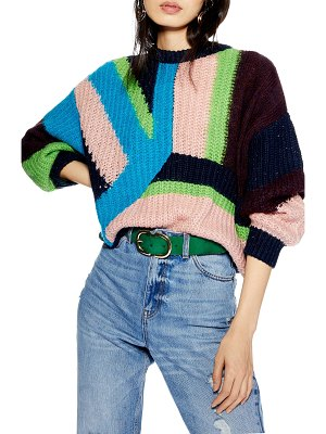 Topshop colorblock sweater