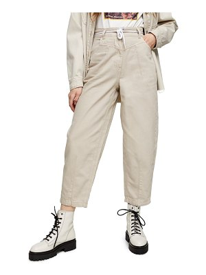 Topshop considered carrie wide leg crop trousers