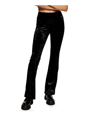 Topshop crushed velvet flare trousers