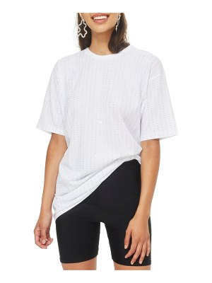 Topshop crystal tunic shirt
