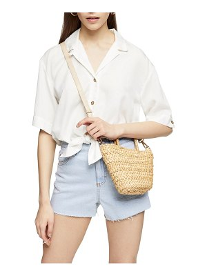 Topshop demi casual knot front button-up shirt