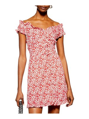 Topshop ditsy floral minidress
