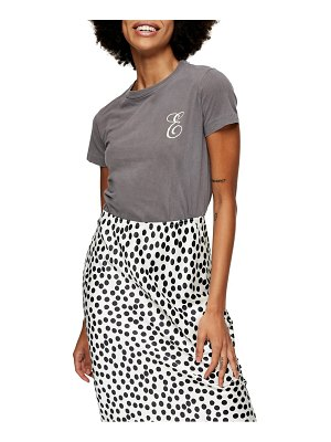 Topshop embroidered letter t-shirt
