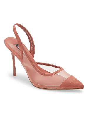 Topshop fate pointed toe mesh pump