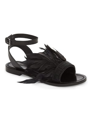 Topshop firework feathered sandal