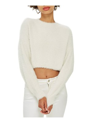 Topshop fluffy crop sweater