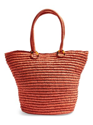 Topshop franka straw ring tote bag