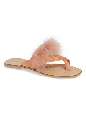Topshop holly fluff slide sandal