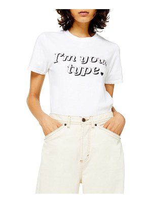 Topshop i'm your type tee