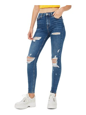 Topshop jamie ripped high waist skinny jeans