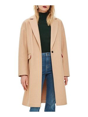 Topshop lily knit back midi coat
