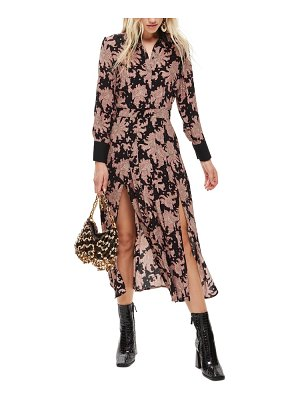 Topshop paisley midi shirtdress