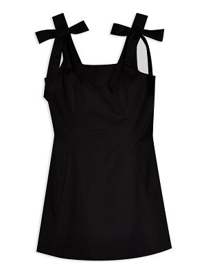 Topshop pinny tie strap minidress