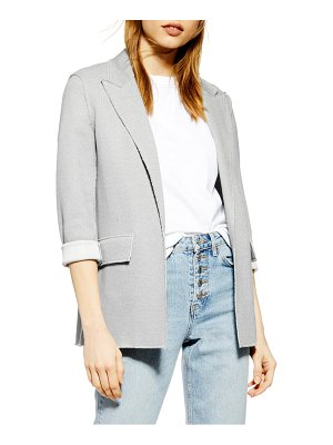 Topshop raw edge boyfriend jacket