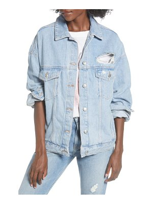 Topshop ripped oversize jacket