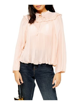 Topshop ruffle pleat chiffon blouse