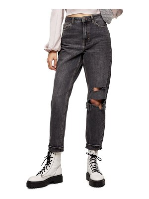 Topshop seoul ripped crop mom jeans