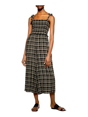 Topshop shadow check culotte jumpsuit