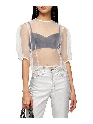 Topshop sheer organza top