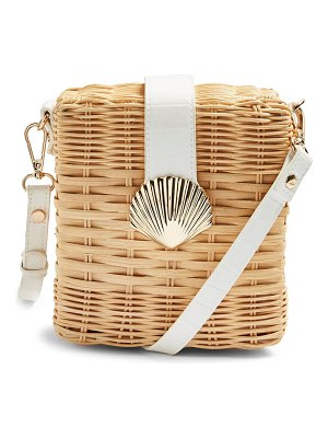 Topshop shell wicker crossbody bag