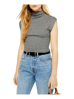 Topshop sleeveless funnel neck top