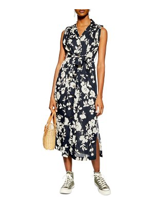 Topshop sleeveless midi shirtdress