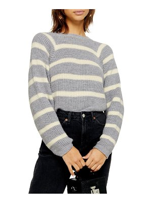 Topshop stripe crop sweater