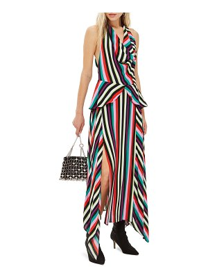 Topshop stripe halter maxi dress