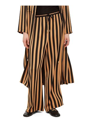 Topshop stripe wide leg trousers