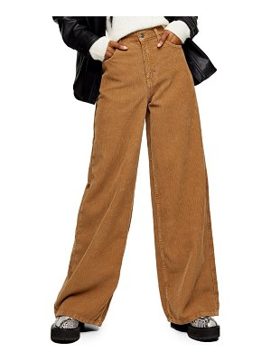 Topshop ted corduroy wide leg pants