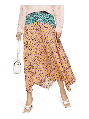 Topshop thrift mixed floral midi skirt