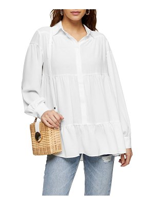 Topshop tiered crepe shirt