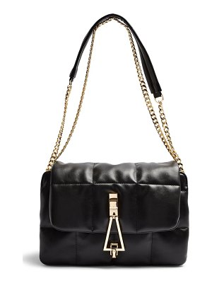 Topshop triangle quilted shoulder bag