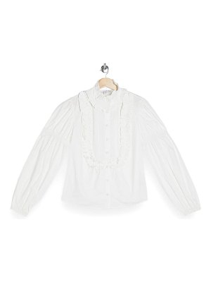 Topshop victorian puff sleeve blouse