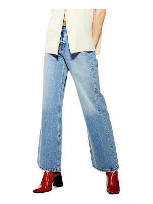 Topshop high waist wide leg jeans
