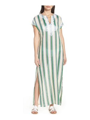 Tory Burch awning stripe cover-up caftan