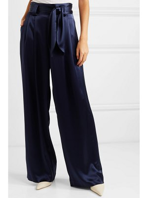 Tory Burch belted satin wide-leg pants