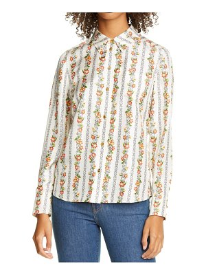 Tory Burch bridgette print silk blouse