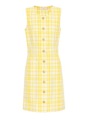 Tory Burch checked cotton-blend dress