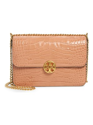 Tory Burch chelsea croc embossed convertible shoulder bag