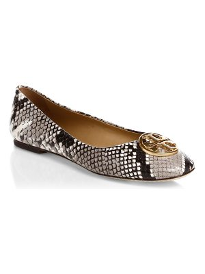 Tory Burch chelsea python-embossed ballet flats