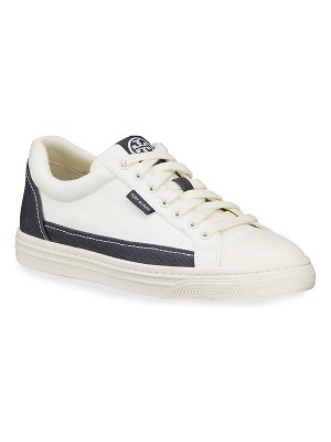 Tory Burch Classic Court Bicolor Low-Top Sneakers