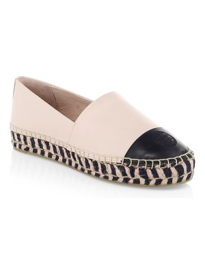 Tory Burch colorblock leather platform espadrilles