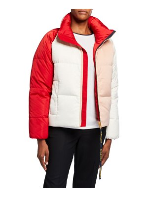 Tory Burch Colorblock Reversible Puffer Jacket