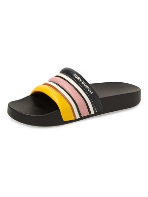 Tory Burch colorblock stripe slide sandal
