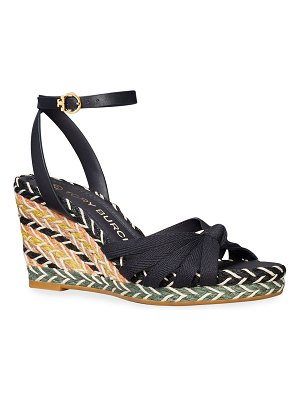 Tory Burch Colorblock Wedge Espadrille Sandals