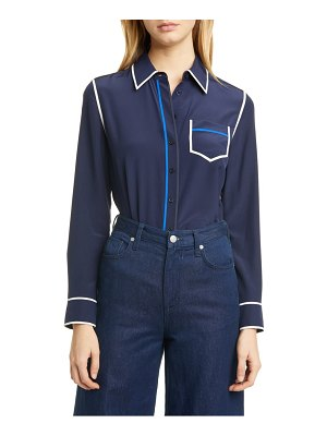 Tory Burch contrast binding silk shirt