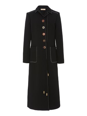 Tory Burch contrast-stitched crepe coat