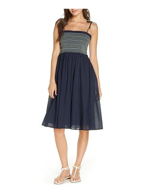 Tory Burch convertible smocked cover-up dress