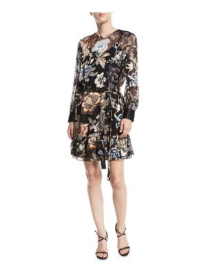 Tory Burch Cora Ruffle-Hem Floral Dress